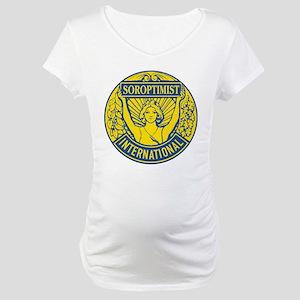 Soroptimist International (Blue/Gold) Maternity T-
