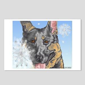 German Shepherd Christmas Postcards#1(Pkg. of 8)