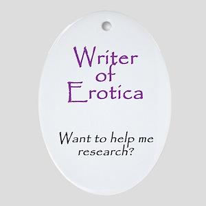 Writer of Erotica Oval Ornament
