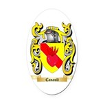 Canault Oval Car Magnet