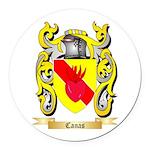 Canas Round Car Magnet