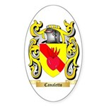 Canaletto Sticker (Oval)