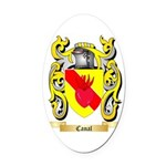 Canal Oval Car Magnet