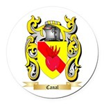 Canal Round Car Magnet