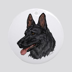 German Shepherd Ornament #5 (Round)