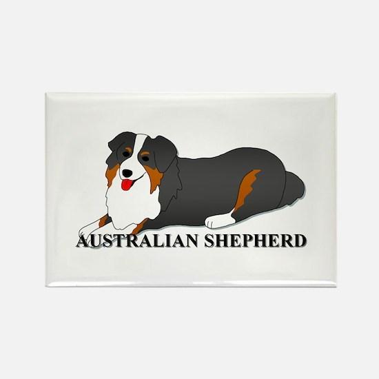 Australian Shepherd Dog Rectangle Magnet