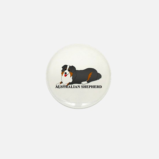 Australian Shepherd Dog Mini Button