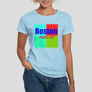 Boston Runs On Women's Light T-Shirt