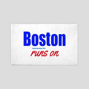 Boston Runs On 3'x5' Area Rug