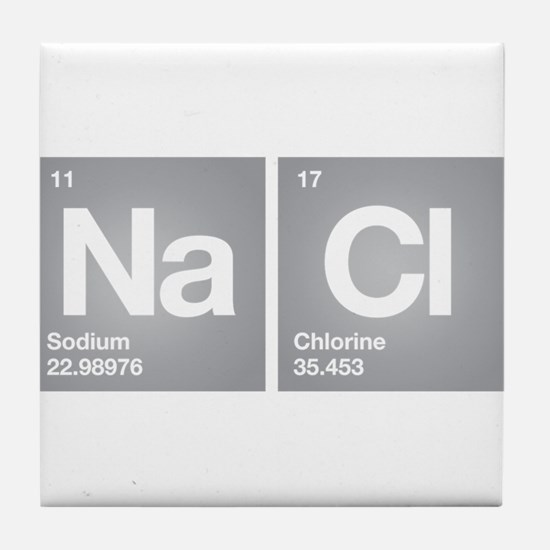 NACL Sodium Chloride Don't forget Salt Tile Coaste