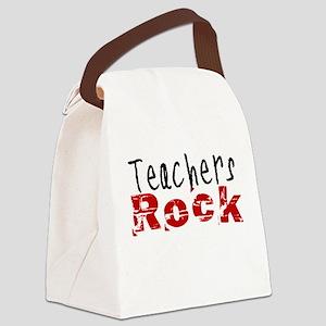 Teachers Rock Canvas Lunch Bag