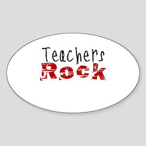 Teachers Rock Sticker (Oval)