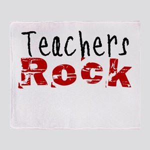 Teachers Rock Throw Blanket