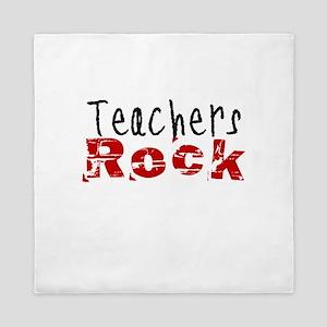 Teachers Rock Queen Duvet