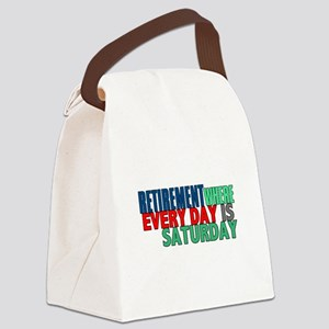 Retirement Canvas Lunch Bag