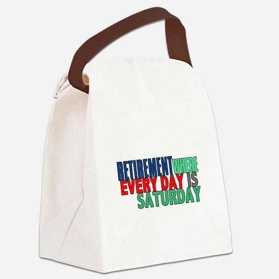 Retirement Canvas Lunch Bag