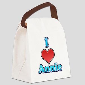 I Heart Annie 2 Canvas Lunch Bag