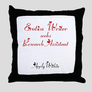 Erotica Writer seeks.... Throw Pillow