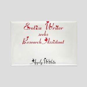 Erotica Writer seeks.... Rectangle Magnet