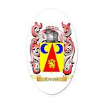 Campoli Oval Car Magnet
