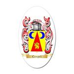 Campoli 20x12 Oval Wall Decal