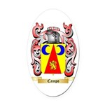 Campo Oval Car Magnet