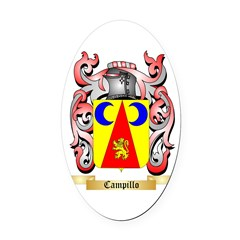 Campillo Oval Car Magnet
