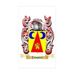 Campieri Sticker (Rectangle 50 pk)