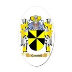 Campbell Oval Car Magnet