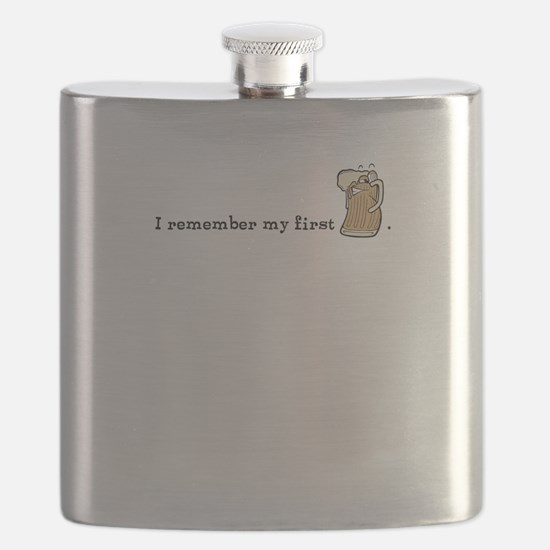 I remember my first beer Flask