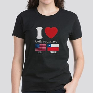 USA-CHILE Women's Dark T-Shirt