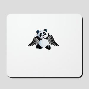 little panda angel Mousepad