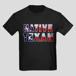 Native Texan Flag Kids Dark T-Shirt