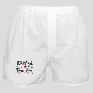 retired teacher stars flowers Boxer Shorts