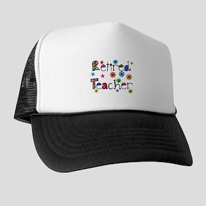 retired teacher stars flowers Trucker Hat
