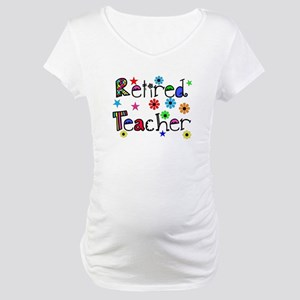 retired teacher stars flowers Maternity T-Shirt