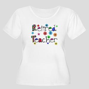 retired teacher stars flowers Plus Size T-Shirt