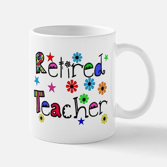 retired teacher stars flowers Mug