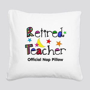 Retired teacher CP nap pillow Square Canvas Pillow