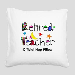 Retired teacher CP nap pillow Square Canvas Pillow
