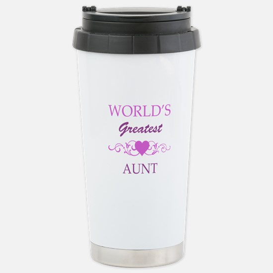 World's Greatest Aunt (purple) Stainless Steel Tra