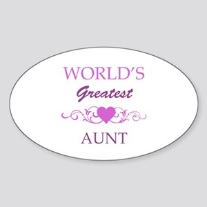 World's Greatest Aunt (purple) Sticker (Oval)