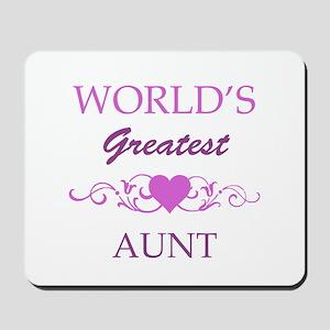 World's Greatest Aunt (purple) Mousepad
