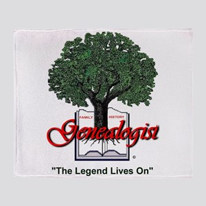 The Legend Lives On Throw Blanket
