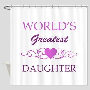 World's Greatest Daughter (purple) Shower Curtain