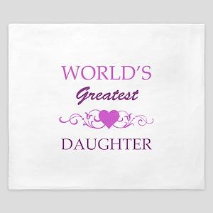 World's Greatest Daughter (purple) King Duvet