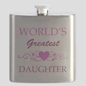 World's Greatest Daughter (purple) Flask