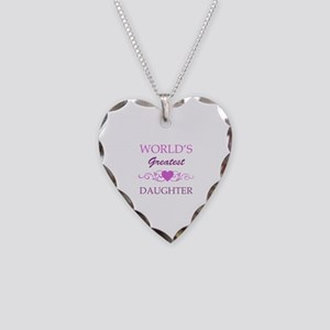 World's Greatest Daughter (purple) Necklace Heart