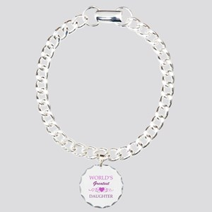 World's Greatest Daughter (purple) Charm Bracelet,