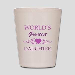 World's Greatest Daughter (purple) Shot Glass